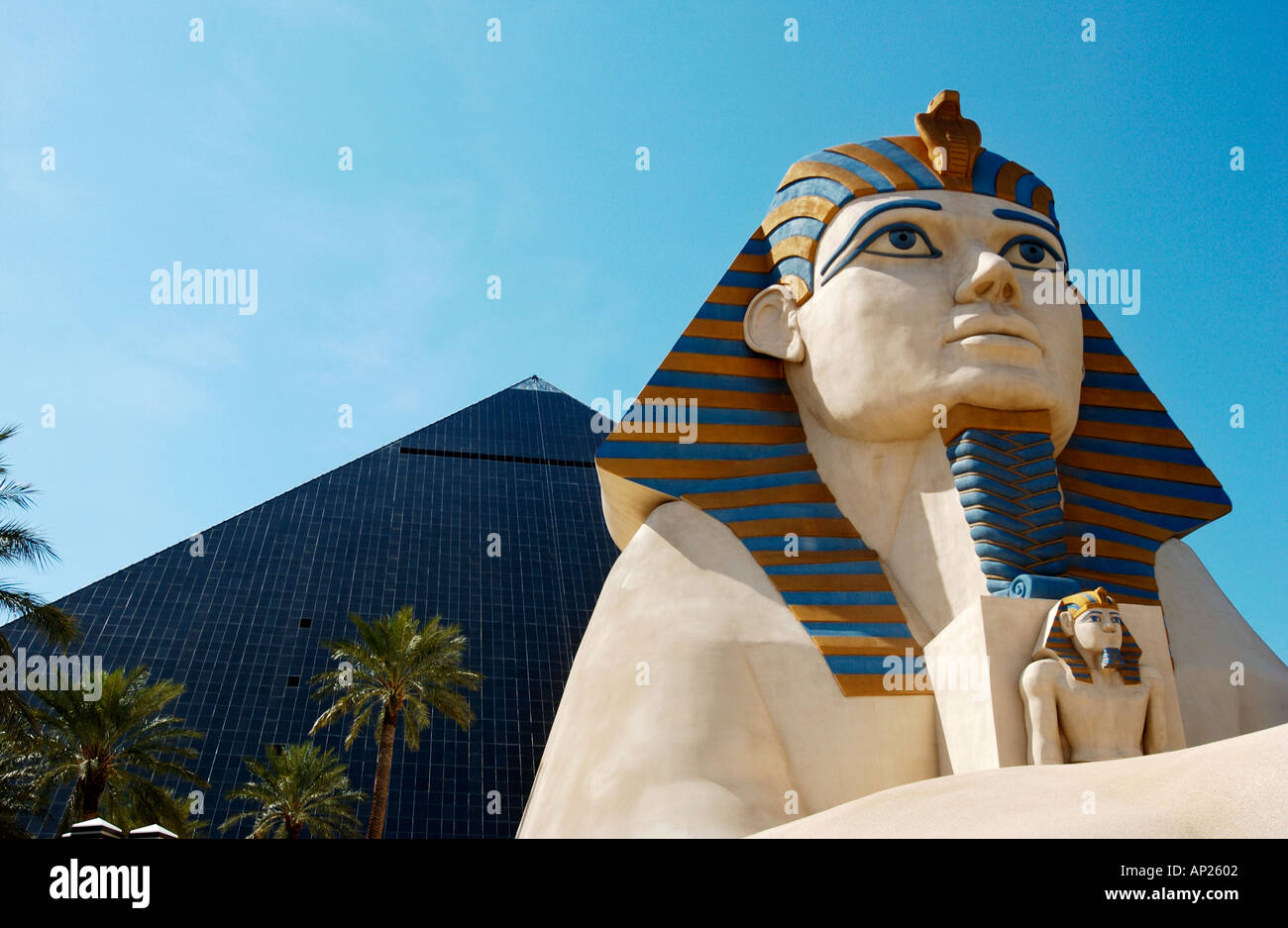 Sphinx at Luxor hotel Las Vegas - Stock Image