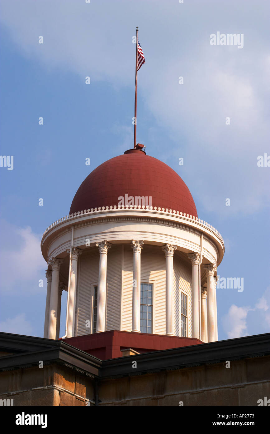 ILLINOIS Springfield Dome of Old State Capitol building exterior restored - Stock Image
