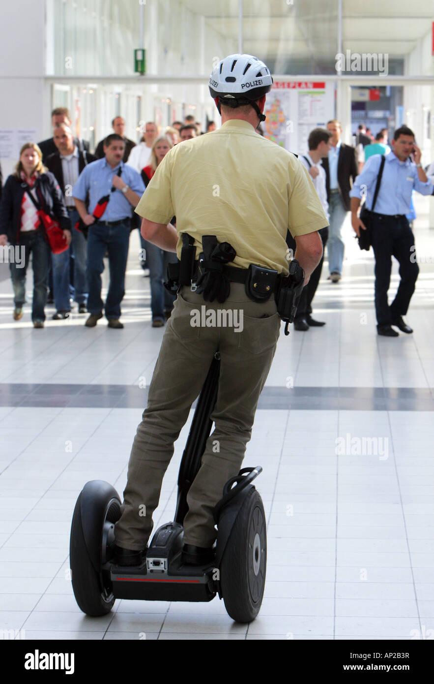 Frankfurt, Germany -  German police on a Segway personel transporter Stock Photo