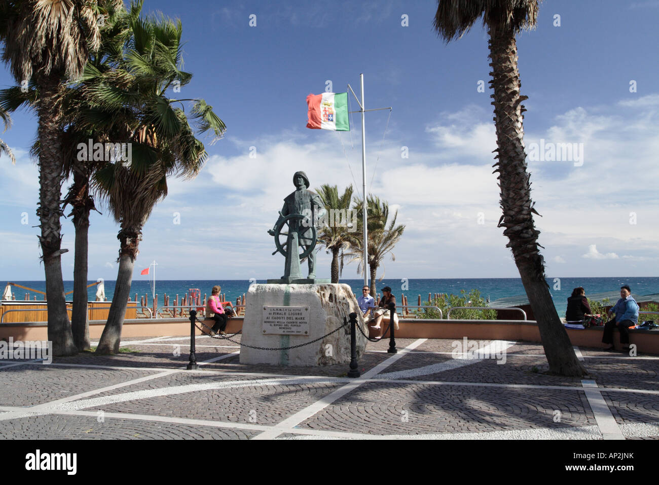 Finale Ligure monument, Italy. - Stock Image