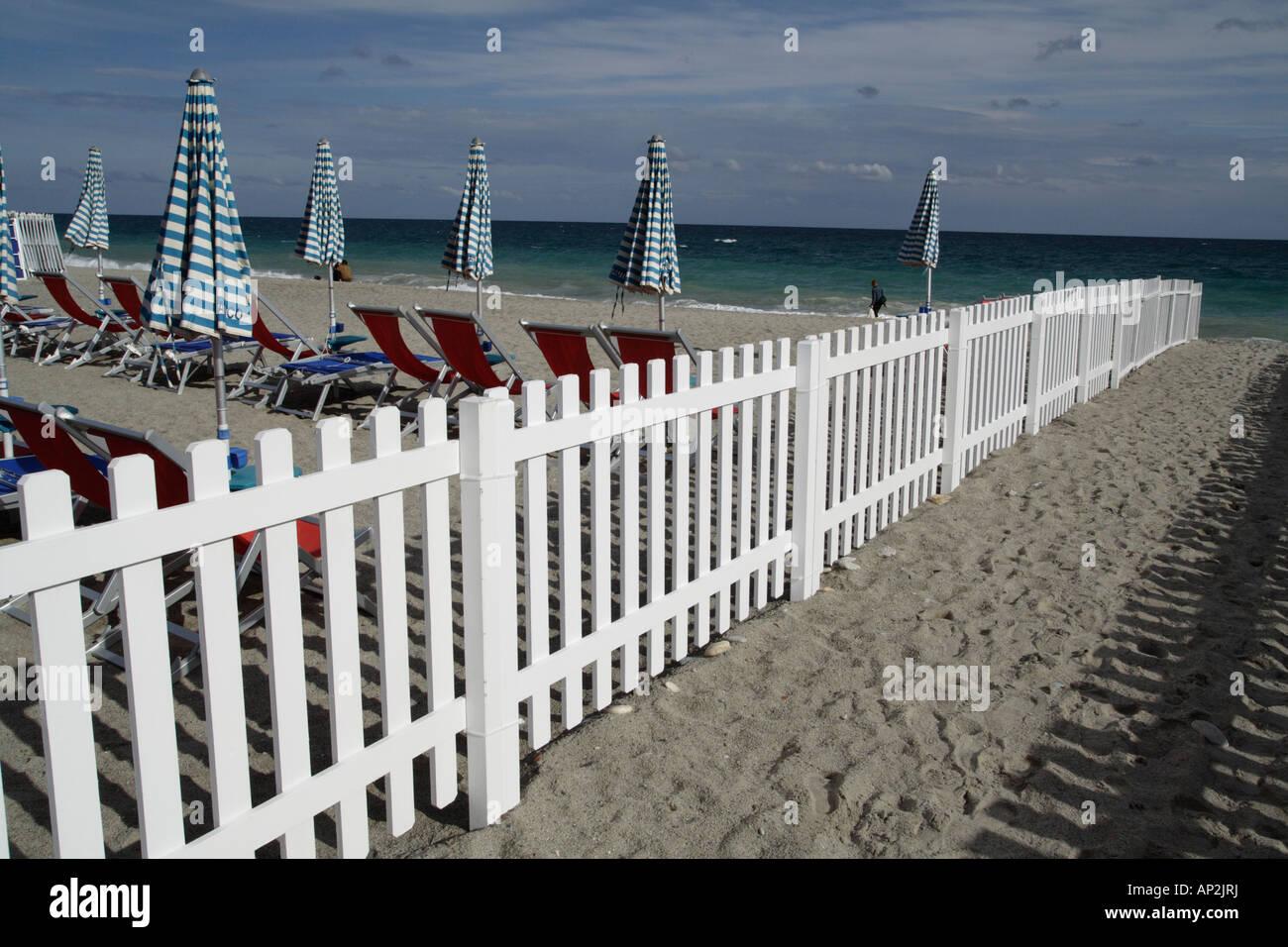 Beach Finale Ligure, Italy. - Stock Image