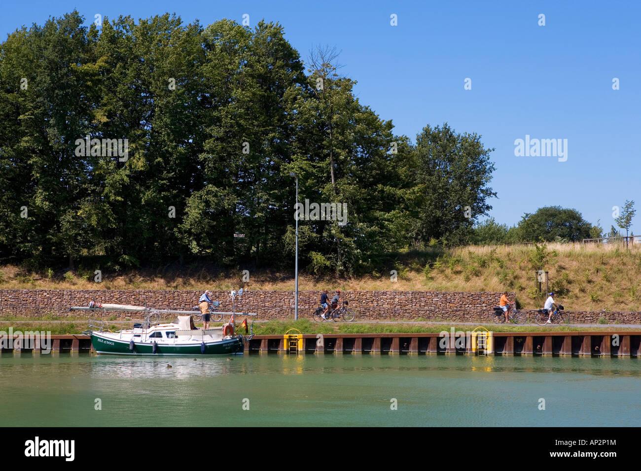 Dortmund-Ems-Canal, North Rhine-Westphalia, Germany Stock Photo