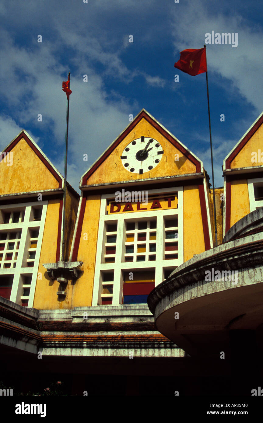 Gare de Dalat, a ghost station since 1964 when Vietcong put it out of commission, Vietnam Stock Photo