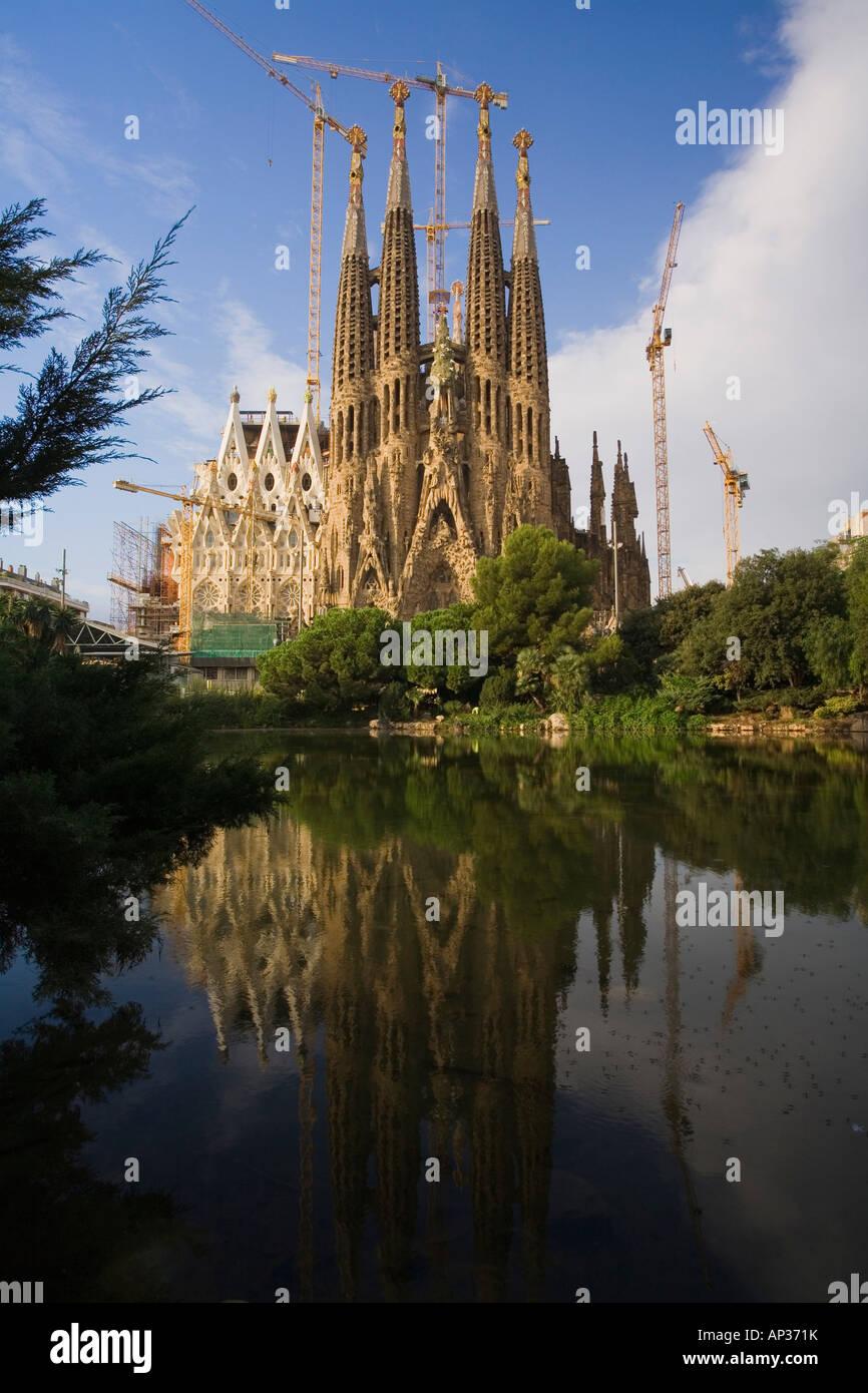 La Sagrada Familia, Antonio Gaudi, modernism, Eixample, Barcelona, Spain - Stock Image