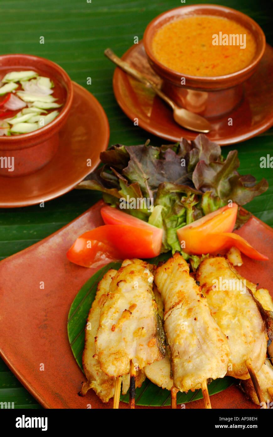 Thai Food Fish Satay Sticks Hotel Rayavadee Hat Phra Nang