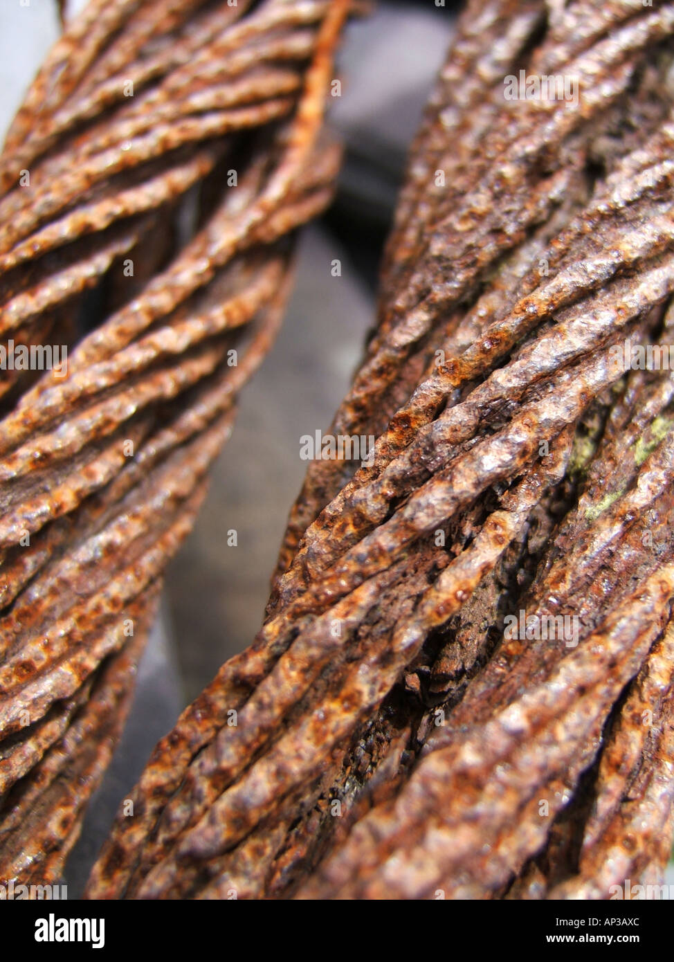 Close Up Corroded Broken Wire Stock Photos & Close Up Corroded ...