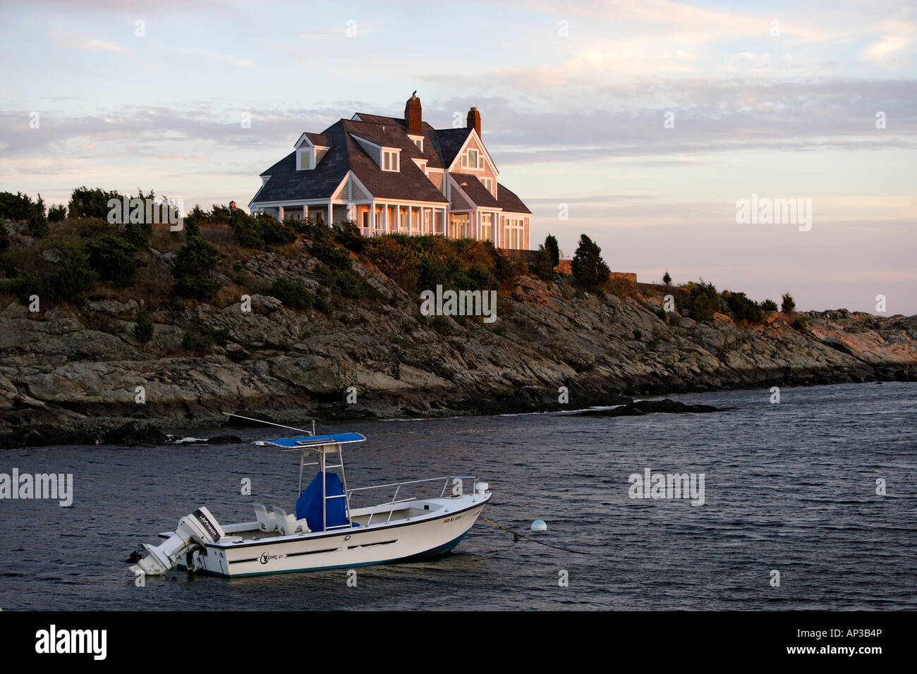 Exclusive homes on Ocean Drive in Newport, Rhode Island, United States of Ameica, USA - Stock Image