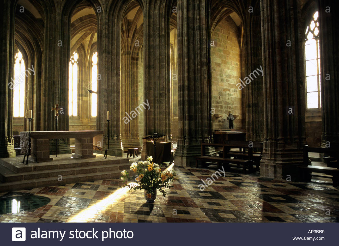 Cathedral Interior Mont St Michel Stock Photos Cathedral Interior
