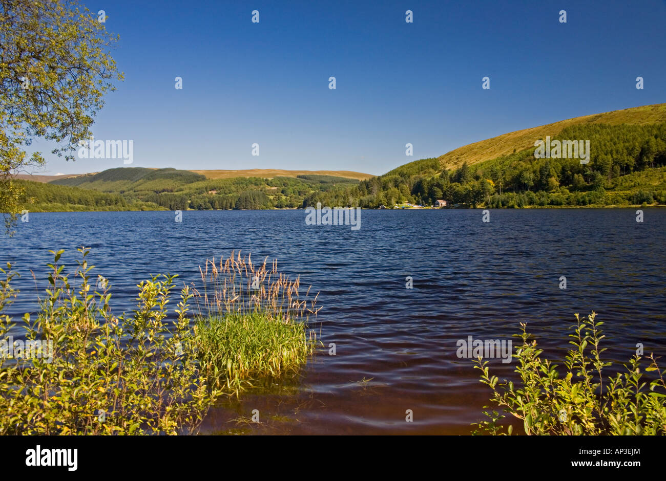 Pontsticill Reservoir, Brecon Beacons National Park, Powys/Merthyr Tydfil border, South Wales, UK Stock Photo