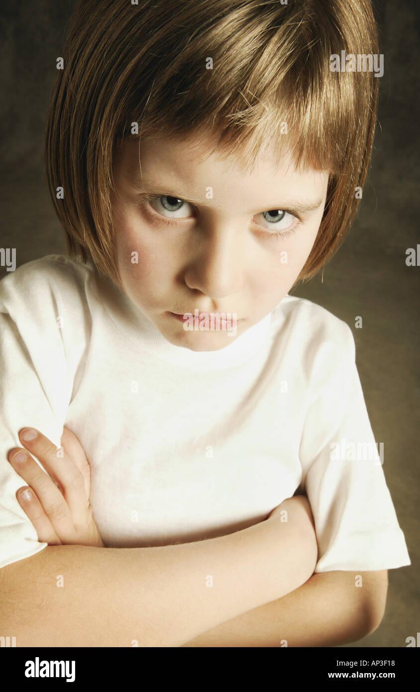 Child pouts - Stock Image