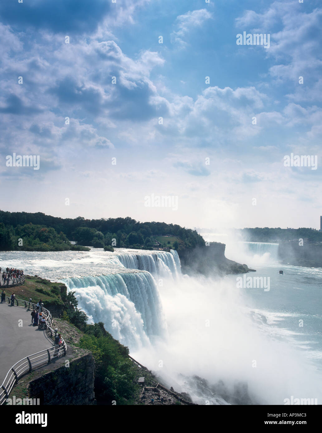 Us Side Of The Niagara Falls New York State Usa Stock