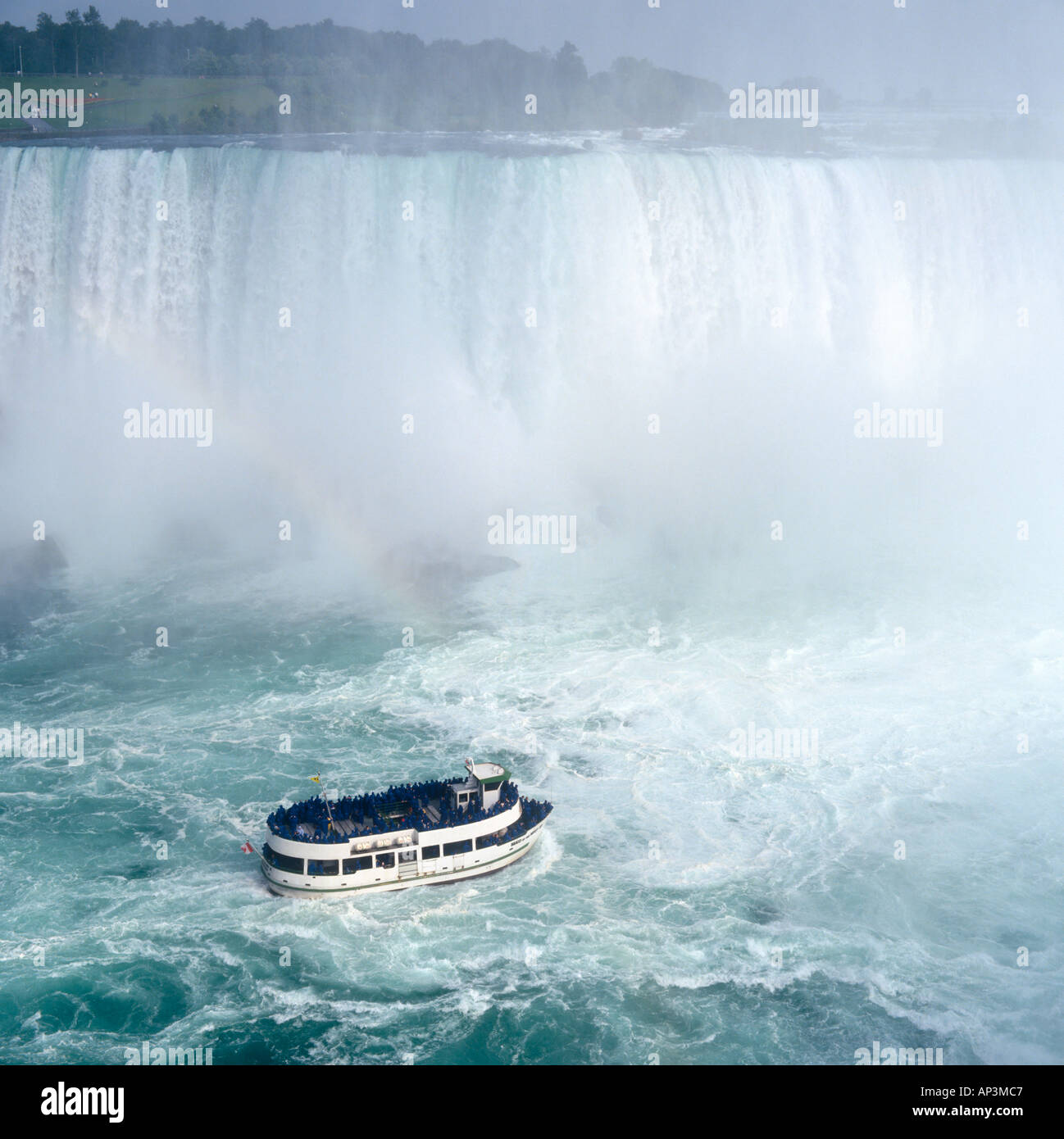 Maid of the Mist Cruise Boat, Niagara Falls, Ontario, Canada - Stock Image