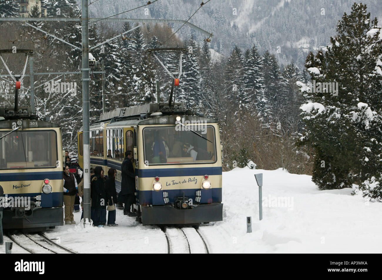 Switzerland Vaud Swiss Riviera Caux Train To The Rochers De Stock Photo Alamy