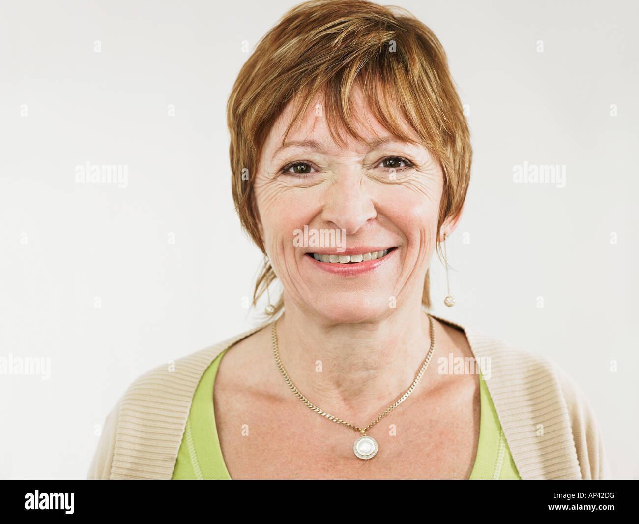 Portrait of a mature woman - Stock Image