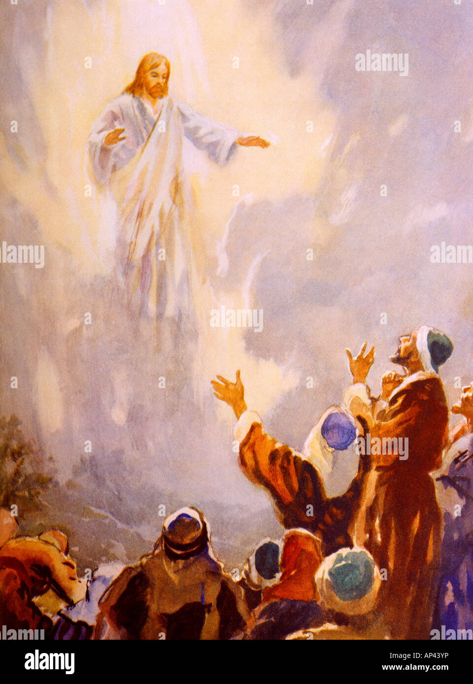 Jesus Passes From The Sight Of His Followers Painting By Henry Coller Bible Story - Stock Image