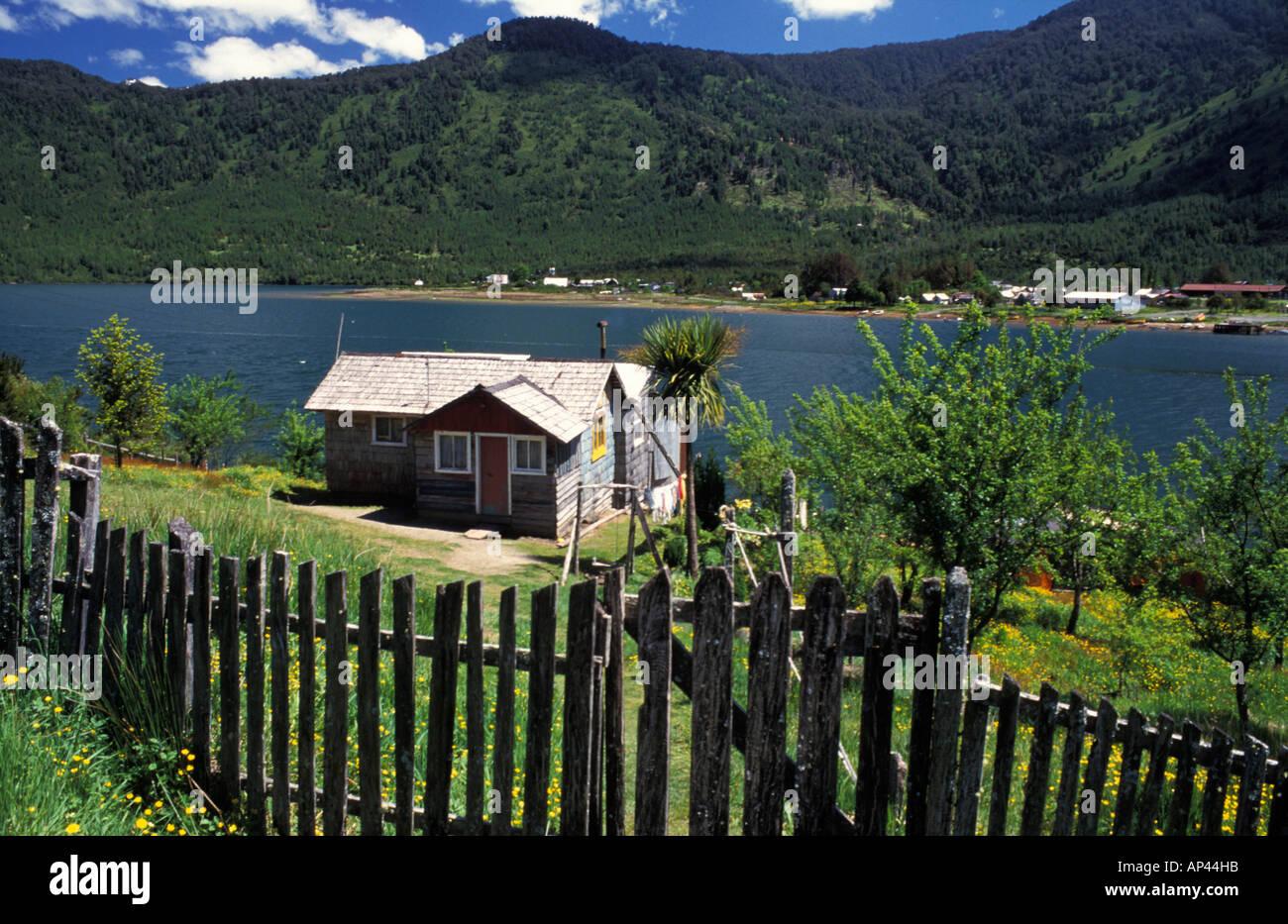 Chile, Patagonia, Puerto Puyuhuapi. - Stock Image