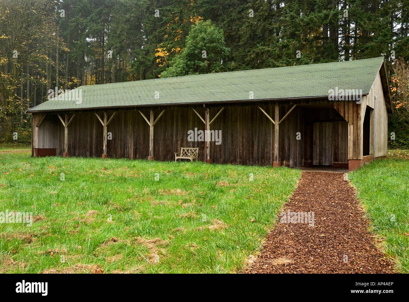 Storage Barn At Bloedel Reserve Bainbridge Island Washington   Stock Image