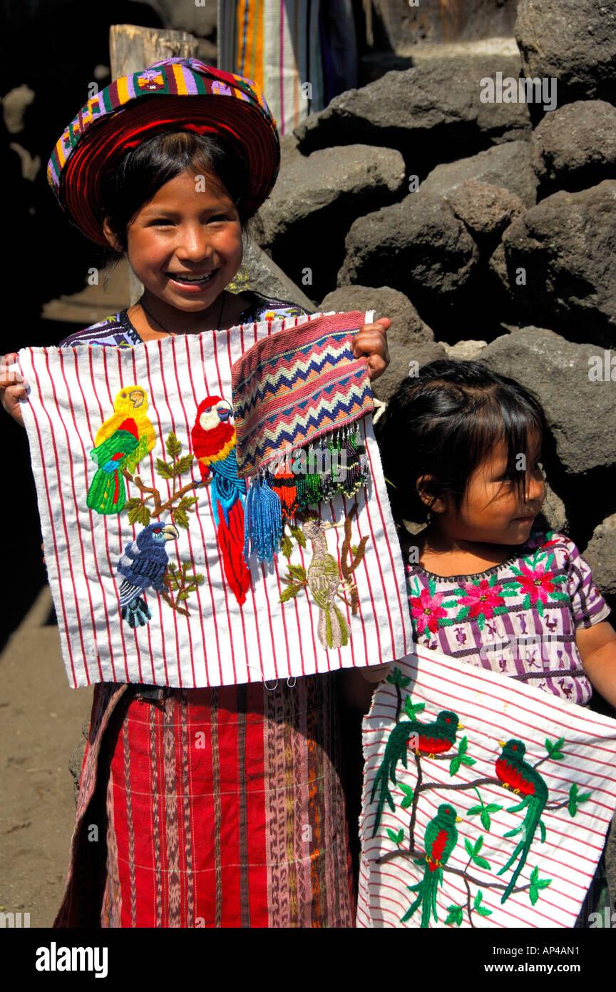 Central America, Guatemala, Western Highlands, Lake Atitlan, Santiago Atitlan. - Stock Image
