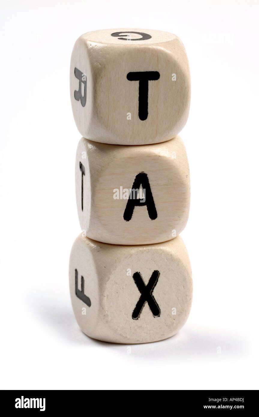 tax dice - Stock Image