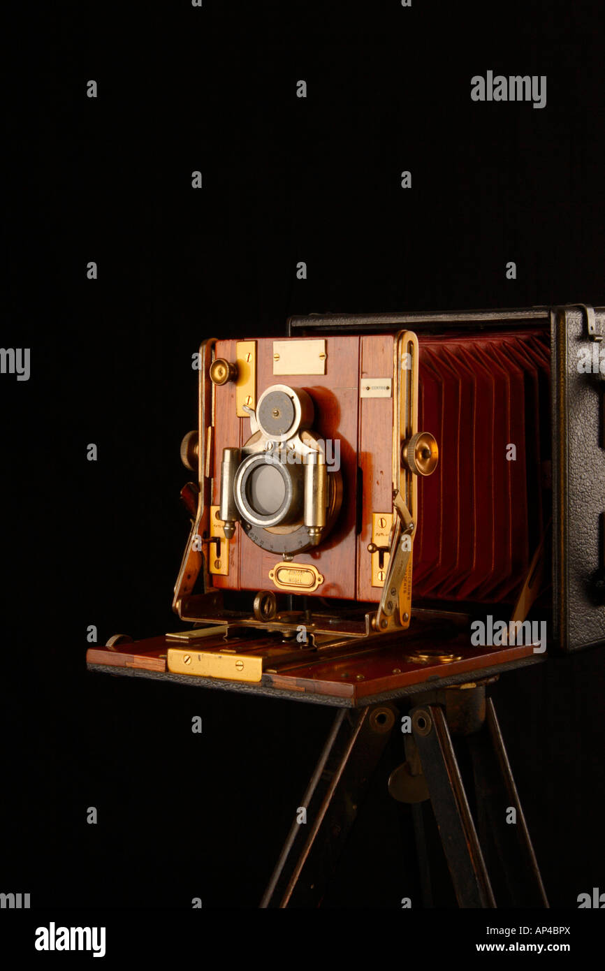 Sandersons, Large Format Wooden Camera. - Stock Image