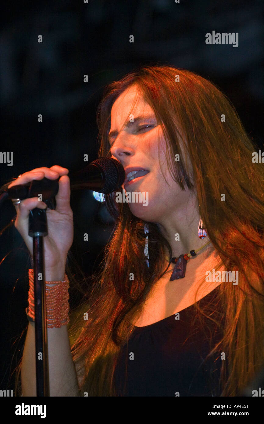 Grace Slick and Paul Kantner s daughter CHINA WING KANTNER sings with the JEFFERSON STARSHIP  MONTEREY POP FESTIVAL - Stock Image