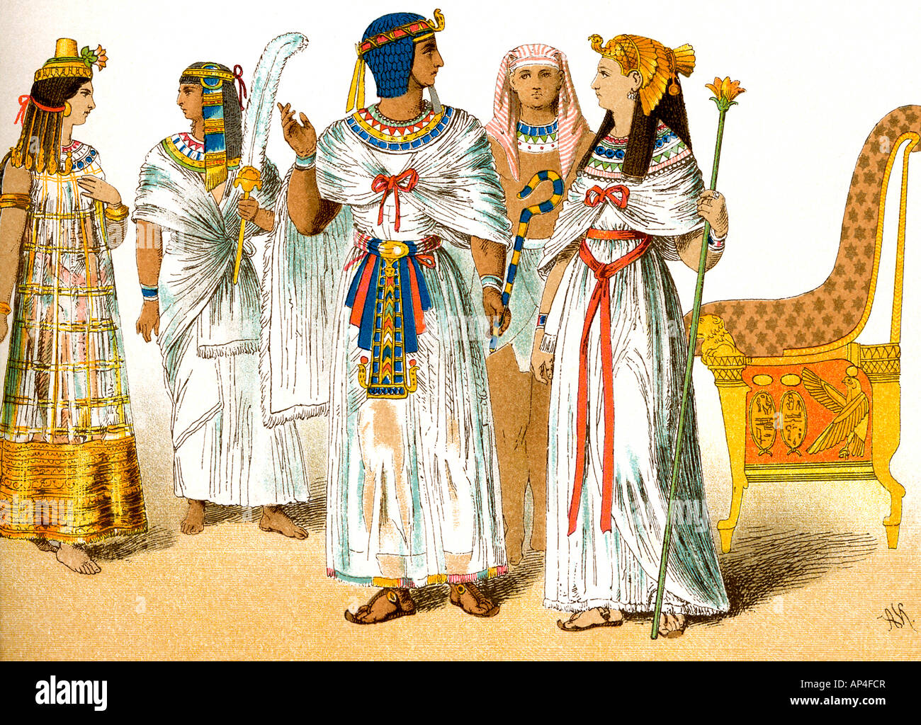 Ancient Egyptian Royals - Stock Image
