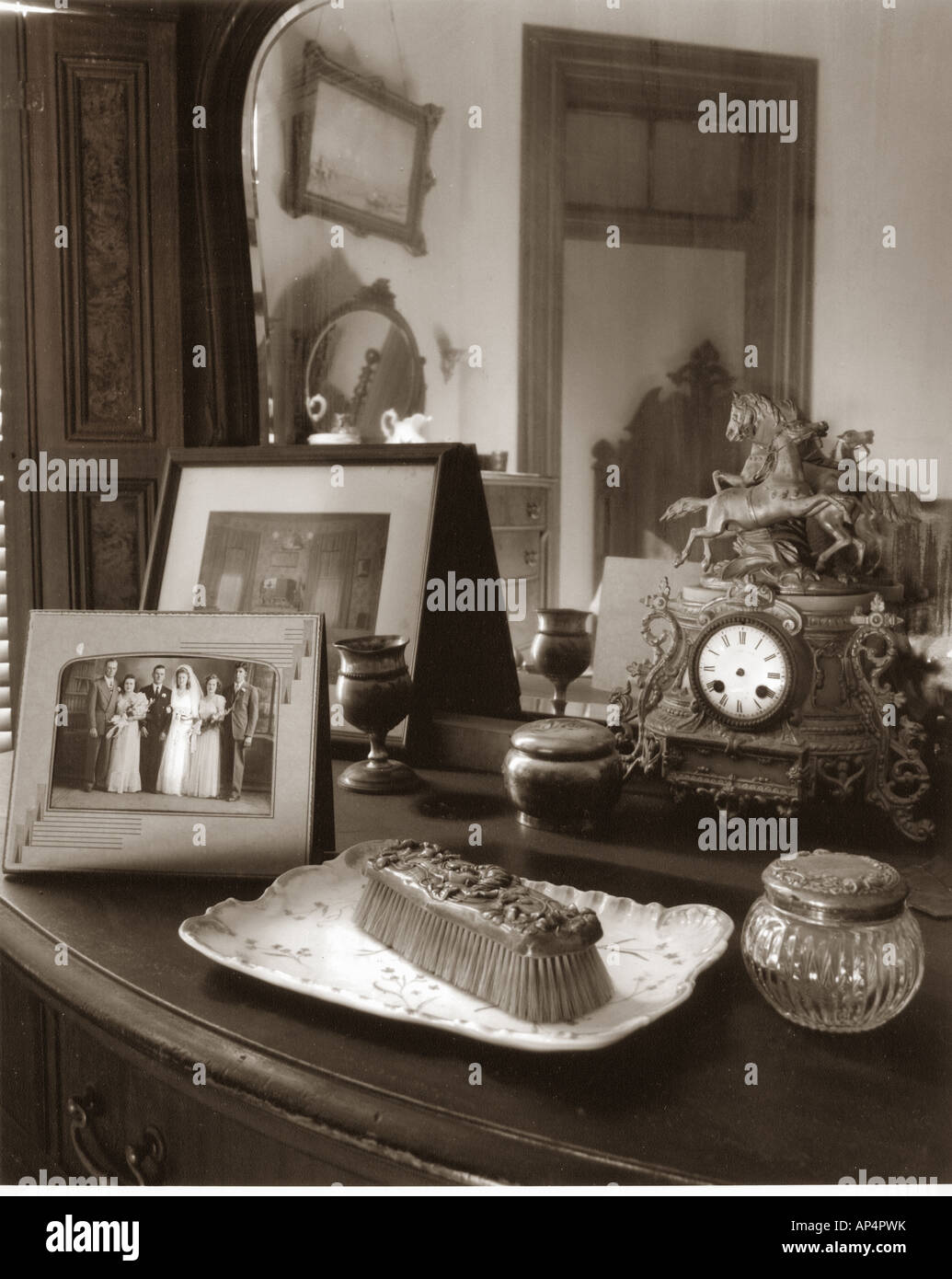 late 1800s bedroom dresser with victorian decorative accessories and stock photo 15675150 alamy - Bedroom Decorative Accessories