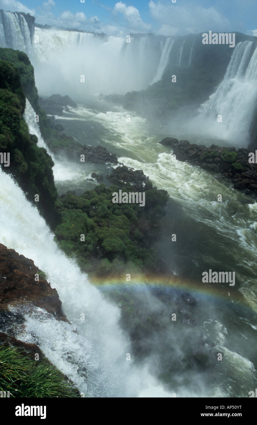 Iguacu falls from the Argentinian side. - Stock Image