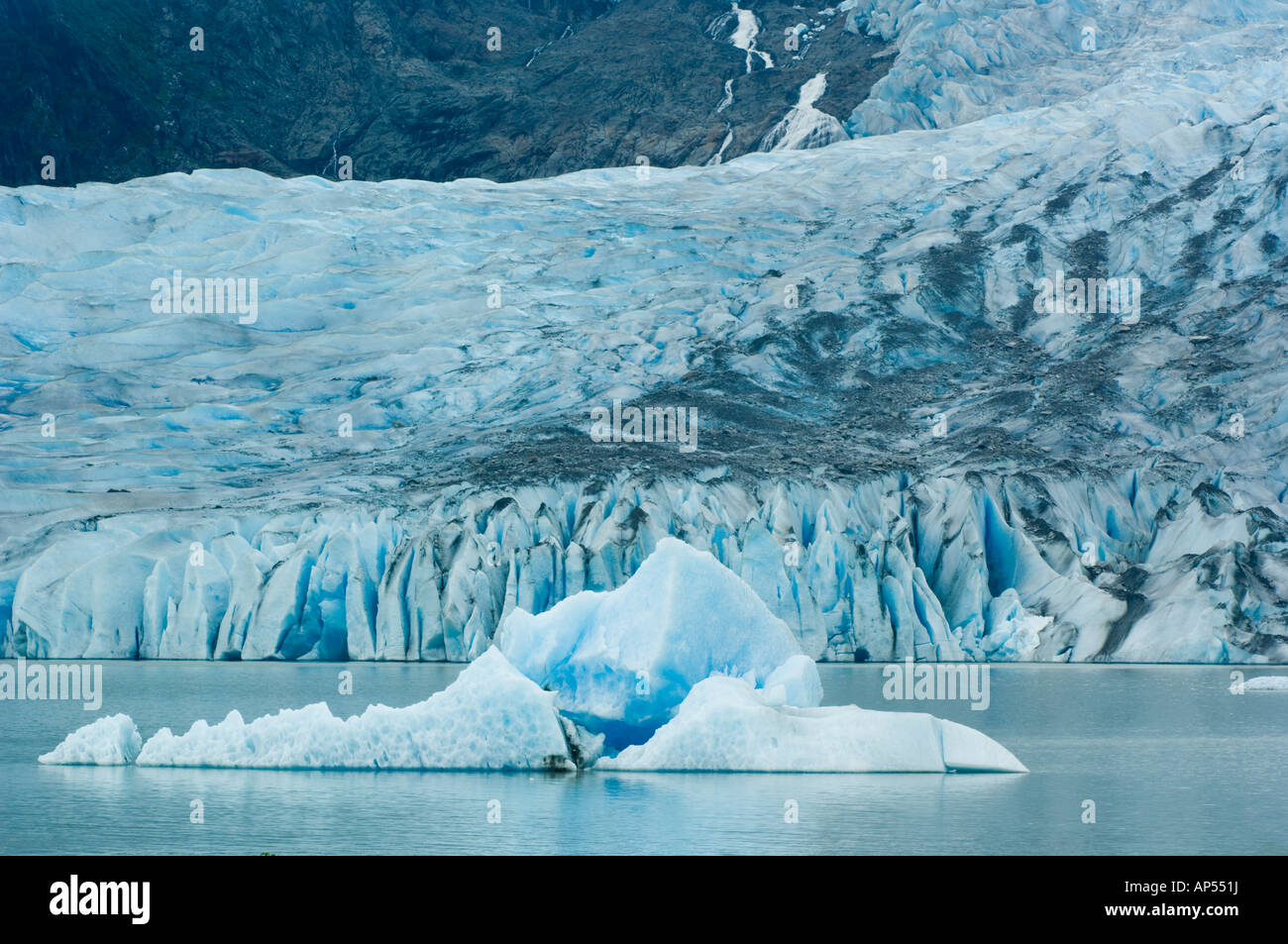 Iceberg and Mendenhall Glacier, Juneau, Alaska  USA - Stock Image