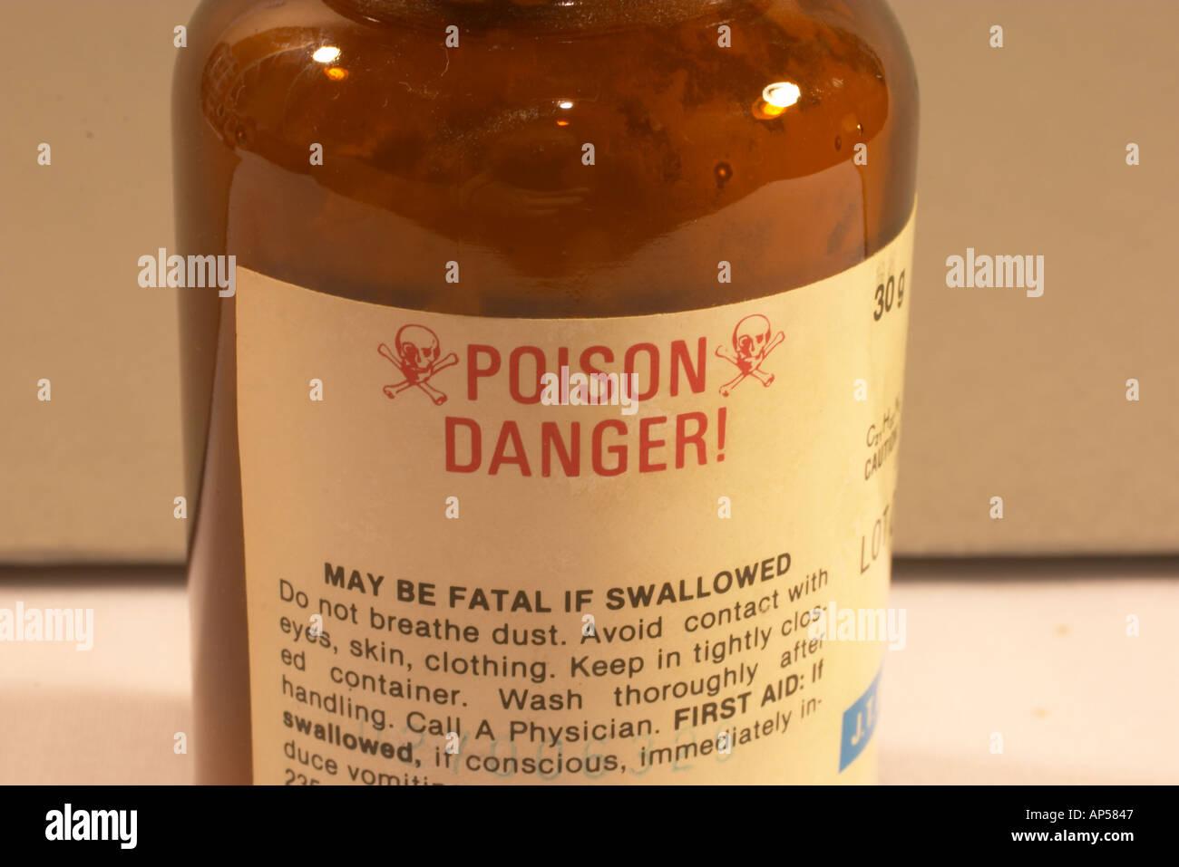 Strychnine poison - Stock Image