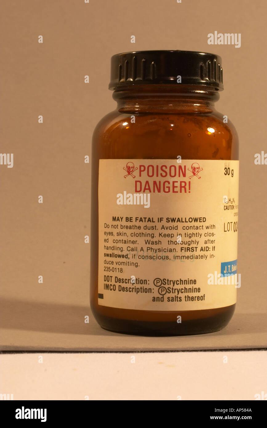Strychnine poison. - Stock Image