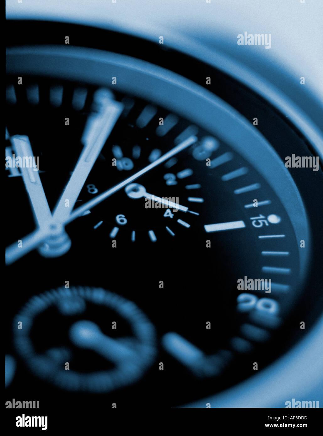 Chronograph Clock - Stock Image