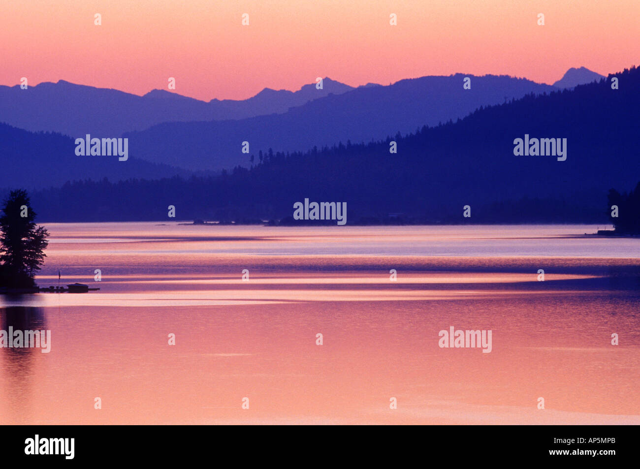 Lake Pend Oreille near Sandpoint Idaho - Stock Image