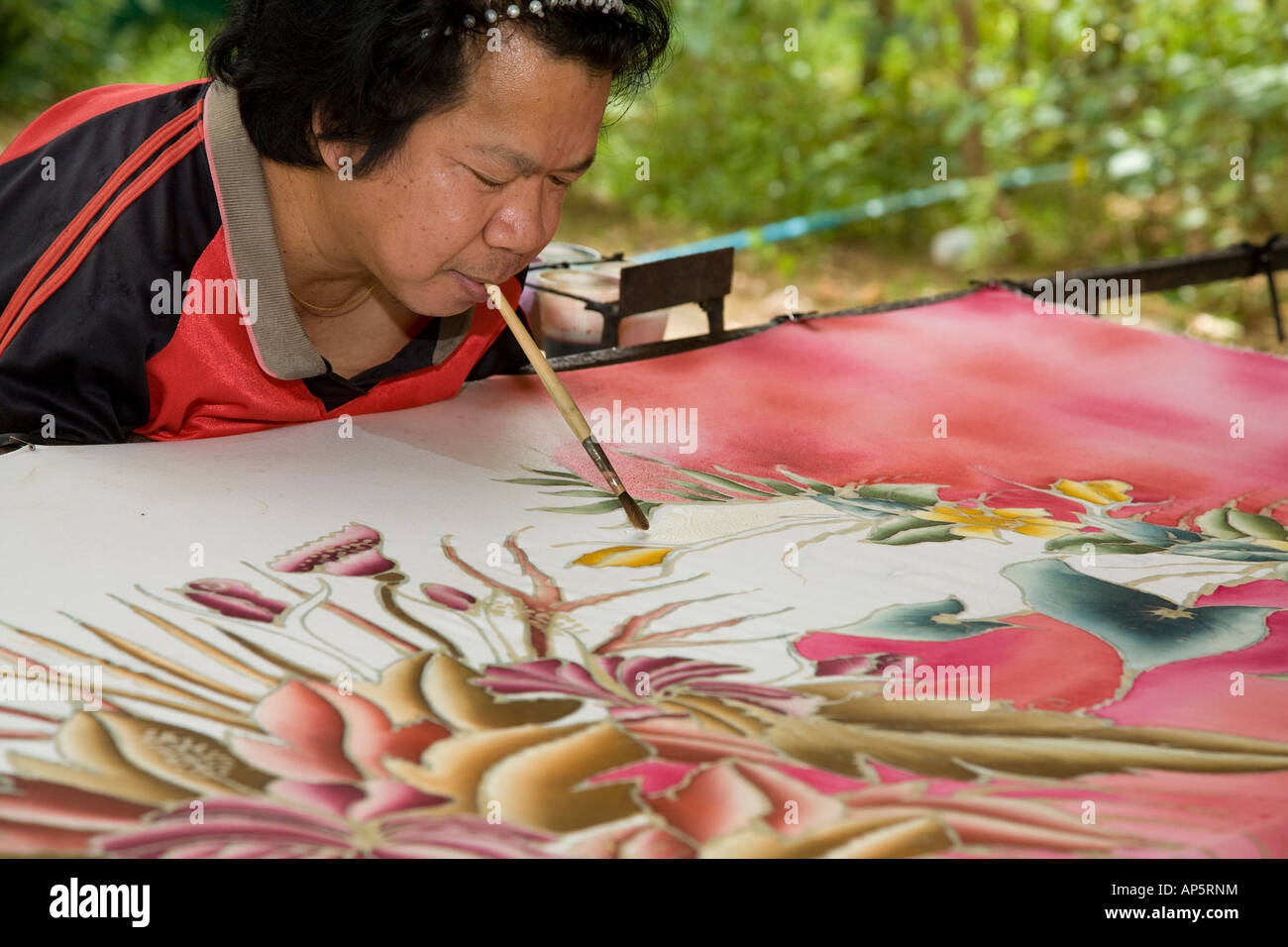 Amputee Asian Disability Artist A Disabled Mouth Painter Art Stock Photo Alamy