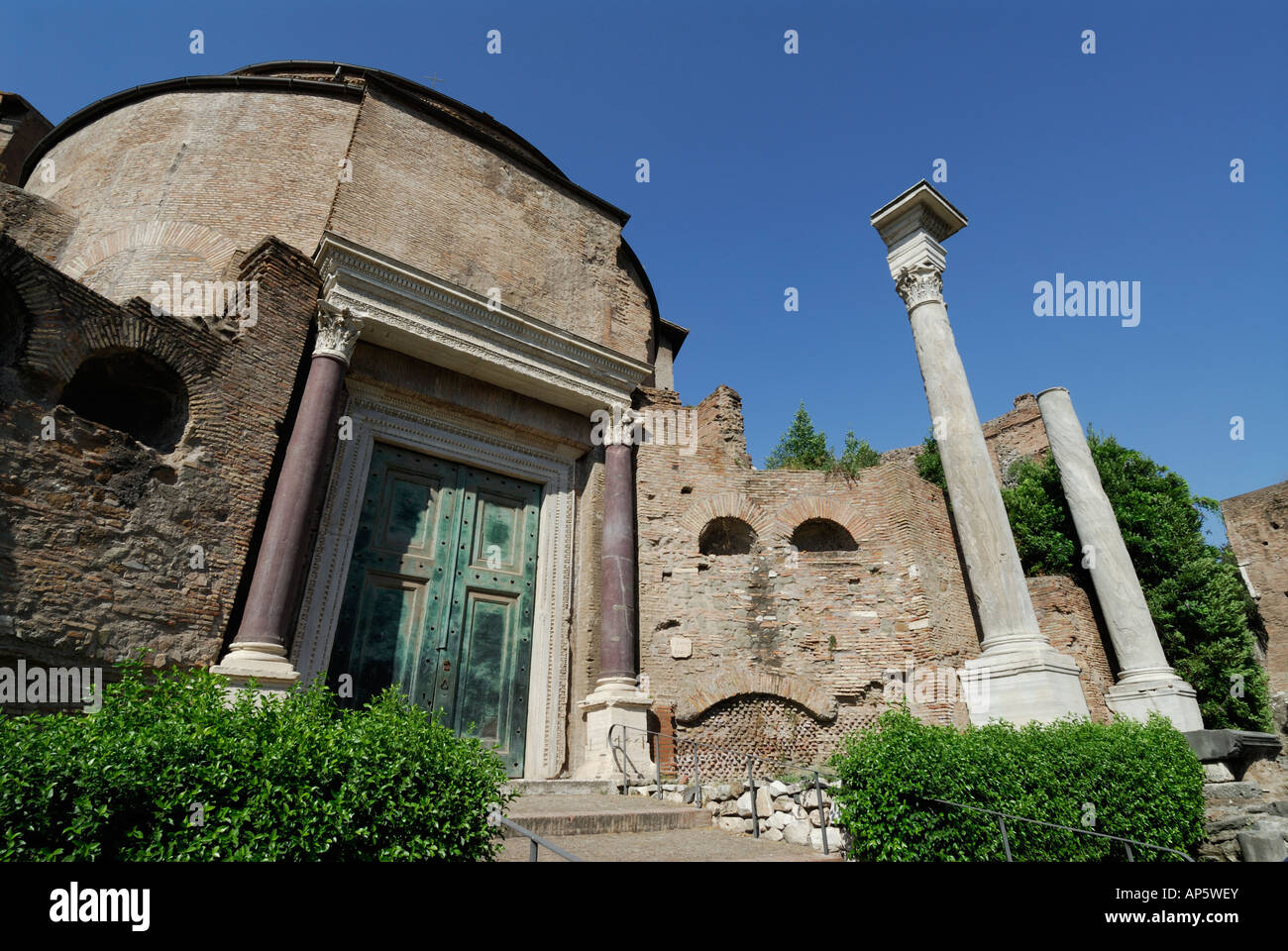 Rome Italy Tomb of Romulus in the Roman Forum - Stock Image