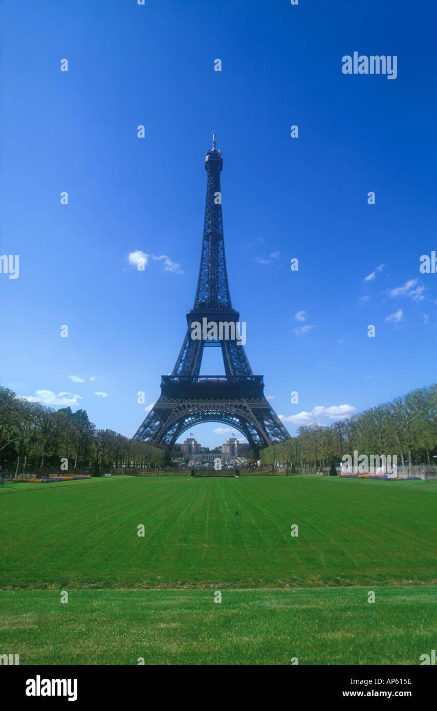 Eiffel Tower Tour Eiffel Champs de Mars Paris France Europe  Stock Photo
