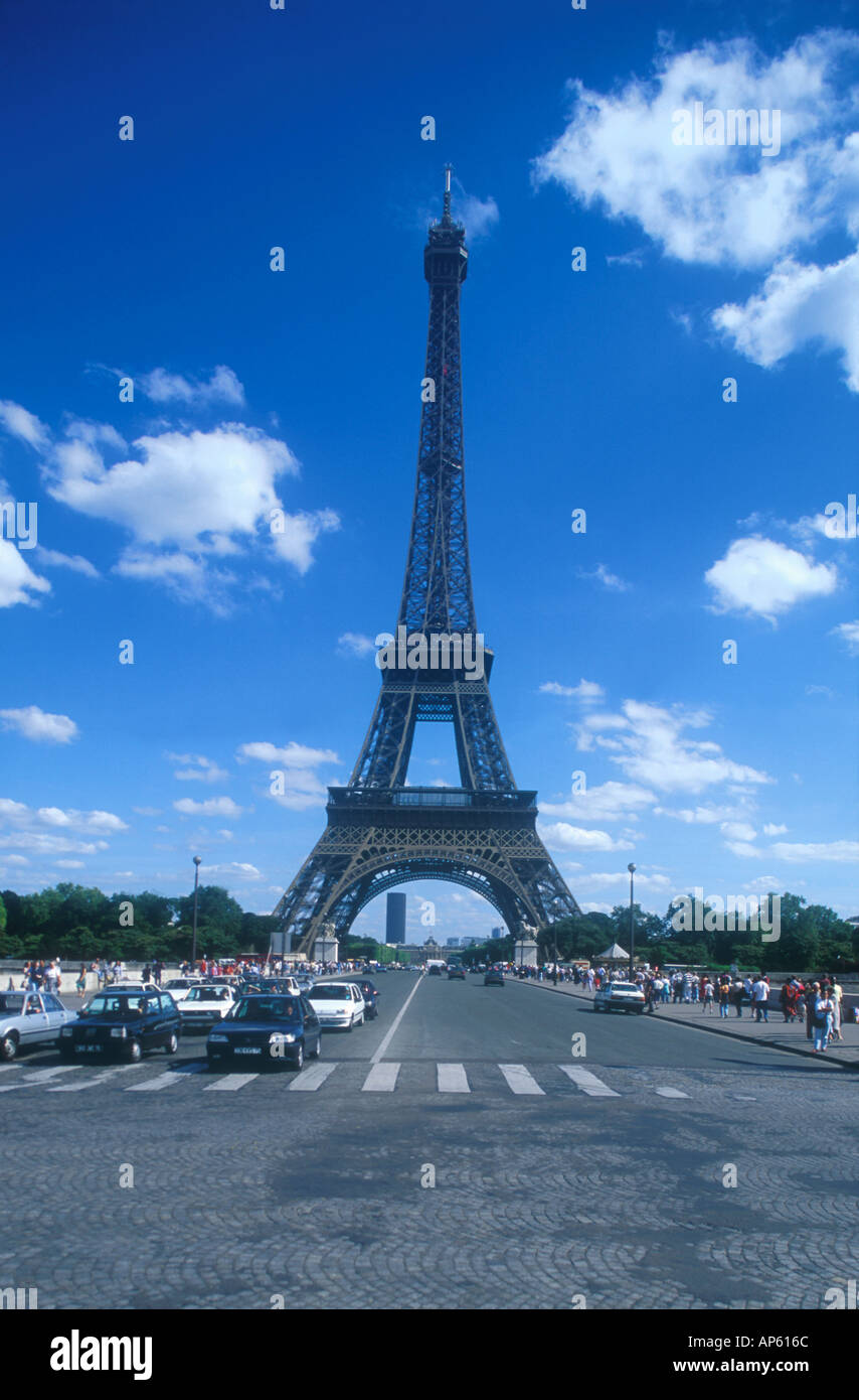 Eiffel Tower Tour Eiffel street of Pont d Iena Paris France Europe Stock Photo
