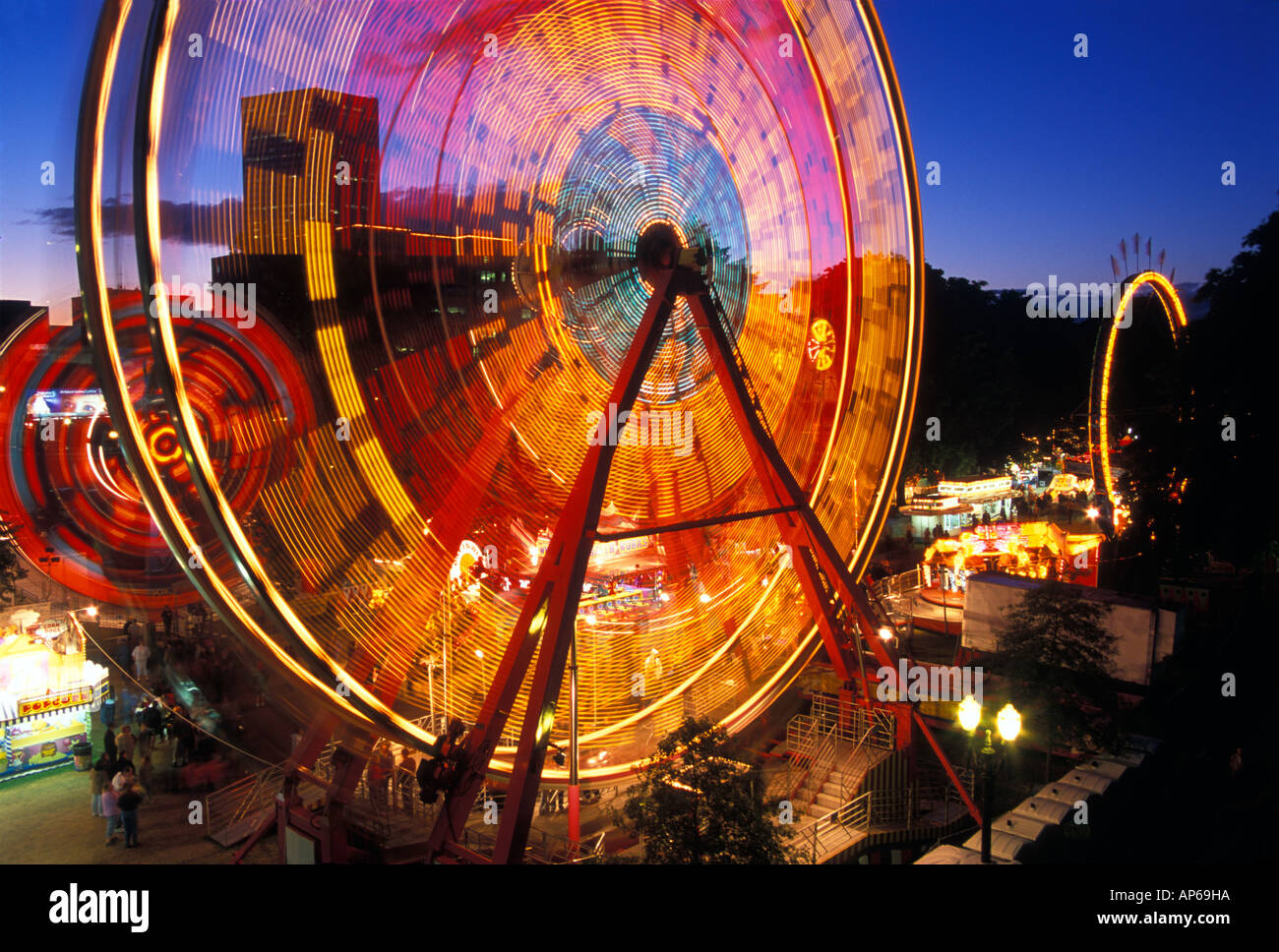 USA, Oregon, Portland, Ferris wheel in the family fun center at