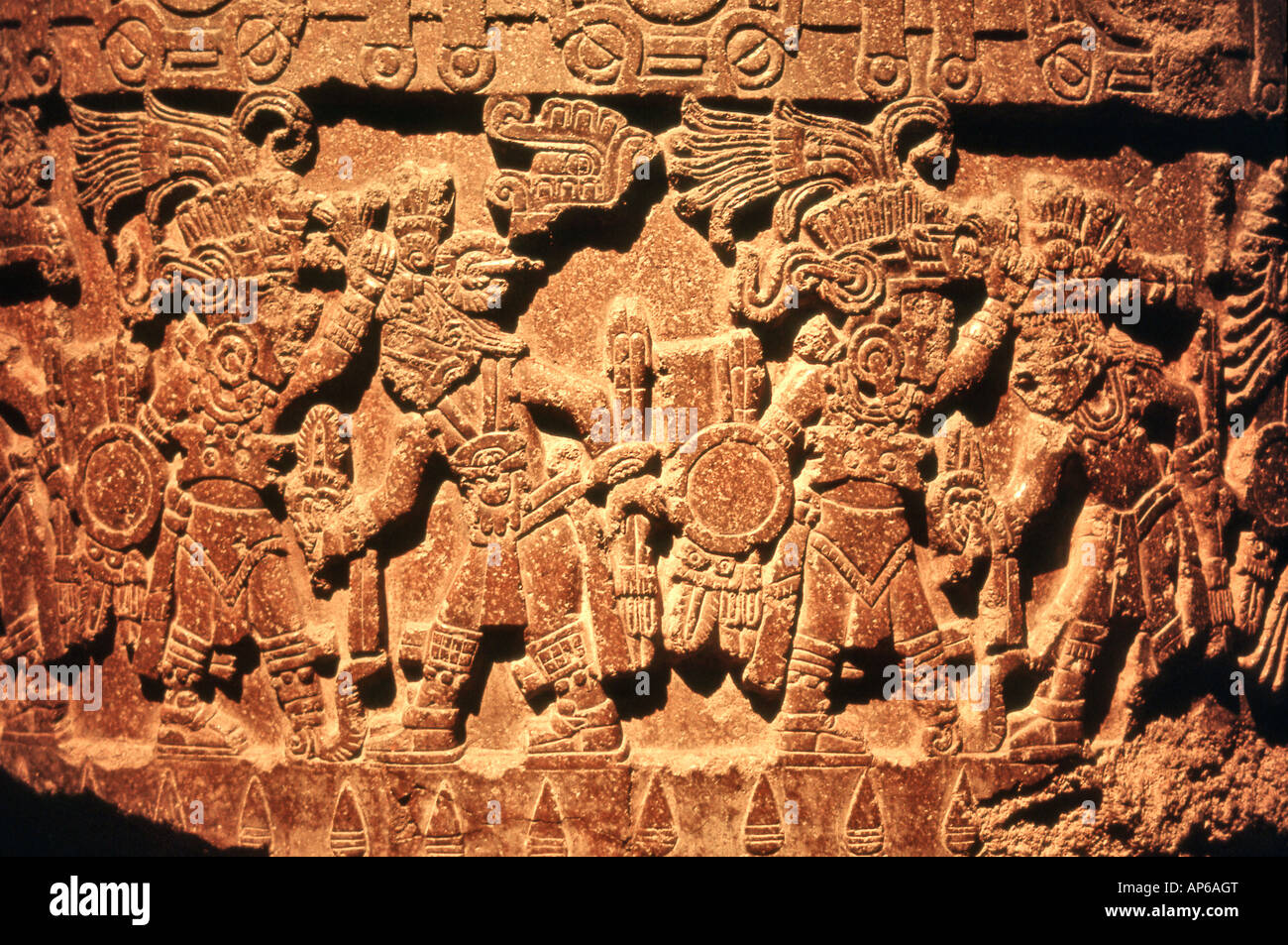 Anthropological Museum Reliefs Mexico City - Stock Image