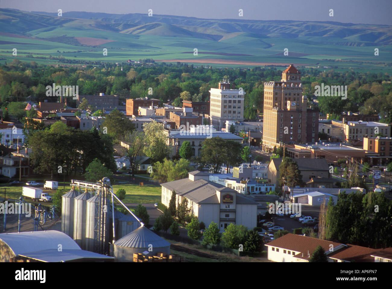 usa washington walla walla historic downtown walla walla with the