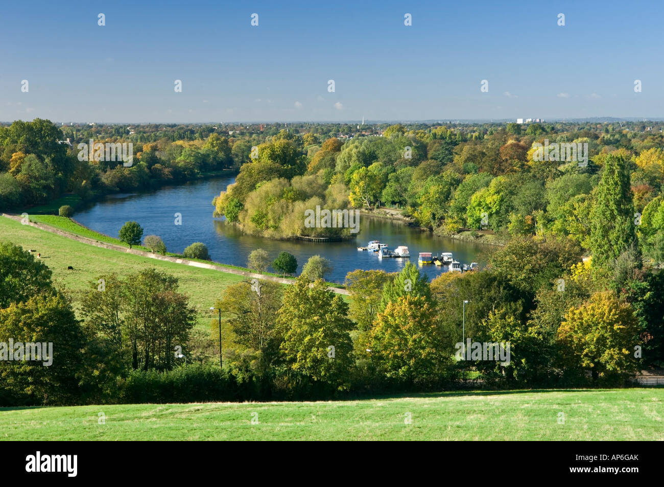 A View From Richmond Hill Down To The River Thames At