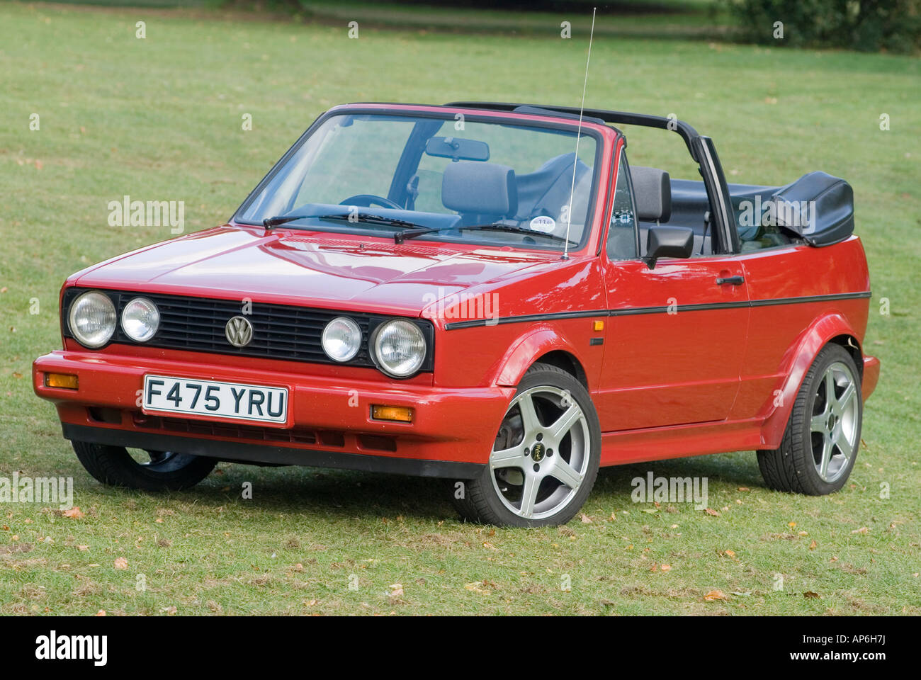 red 1989 vw clipper cabriolet car stock photo 15692069 alamy