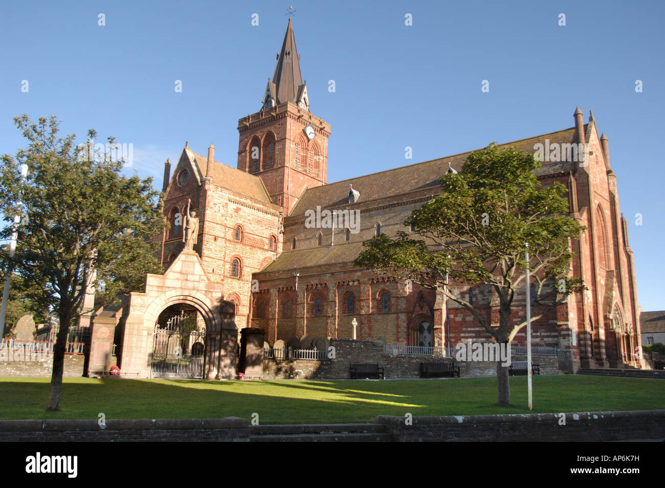 ST Magnus Cathedral Kirkwall mainland Orkney Scotland - Stock Image