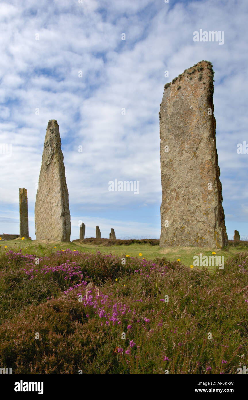 Ring of Brodgar Standing Stones Mainland Orkney Scotland Stock Photo
