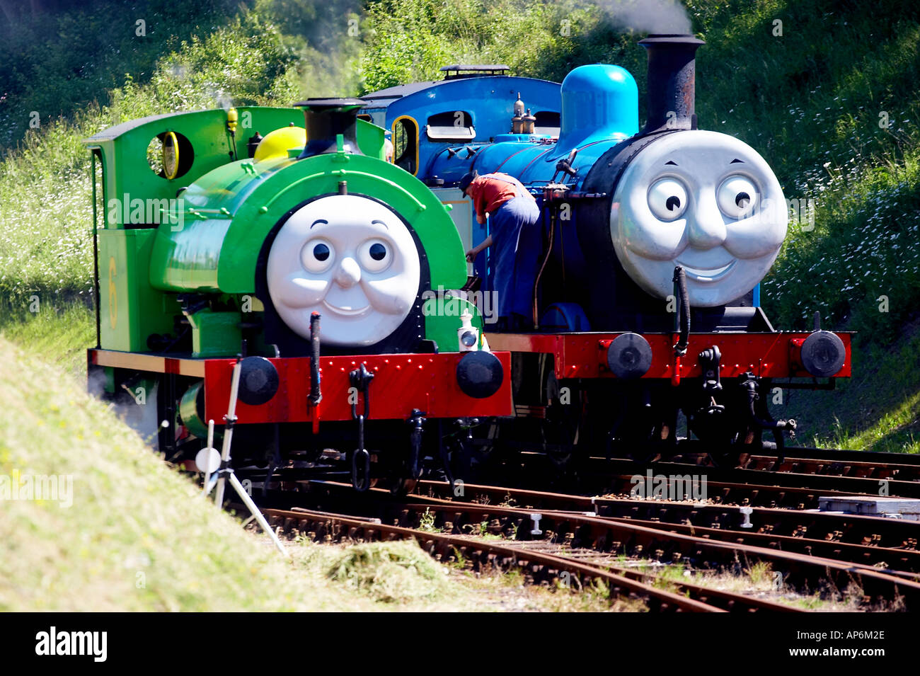 Thomas The Tank Engine With Percy At The Bluebell Railway
