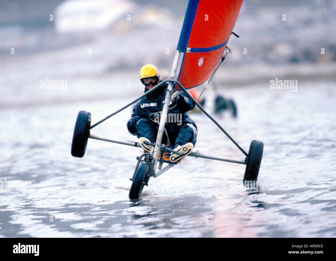 Land Yachting action - Stock Image