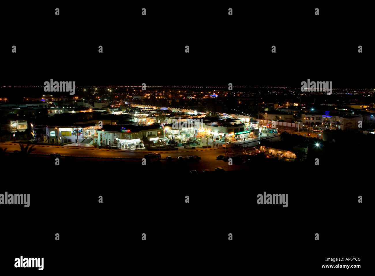 Naama bay at night