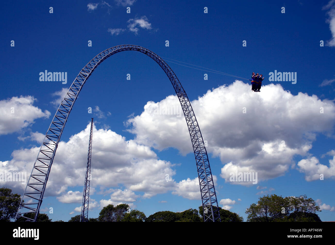Vertigo Ride Oakwood Theme Park - Stock Image