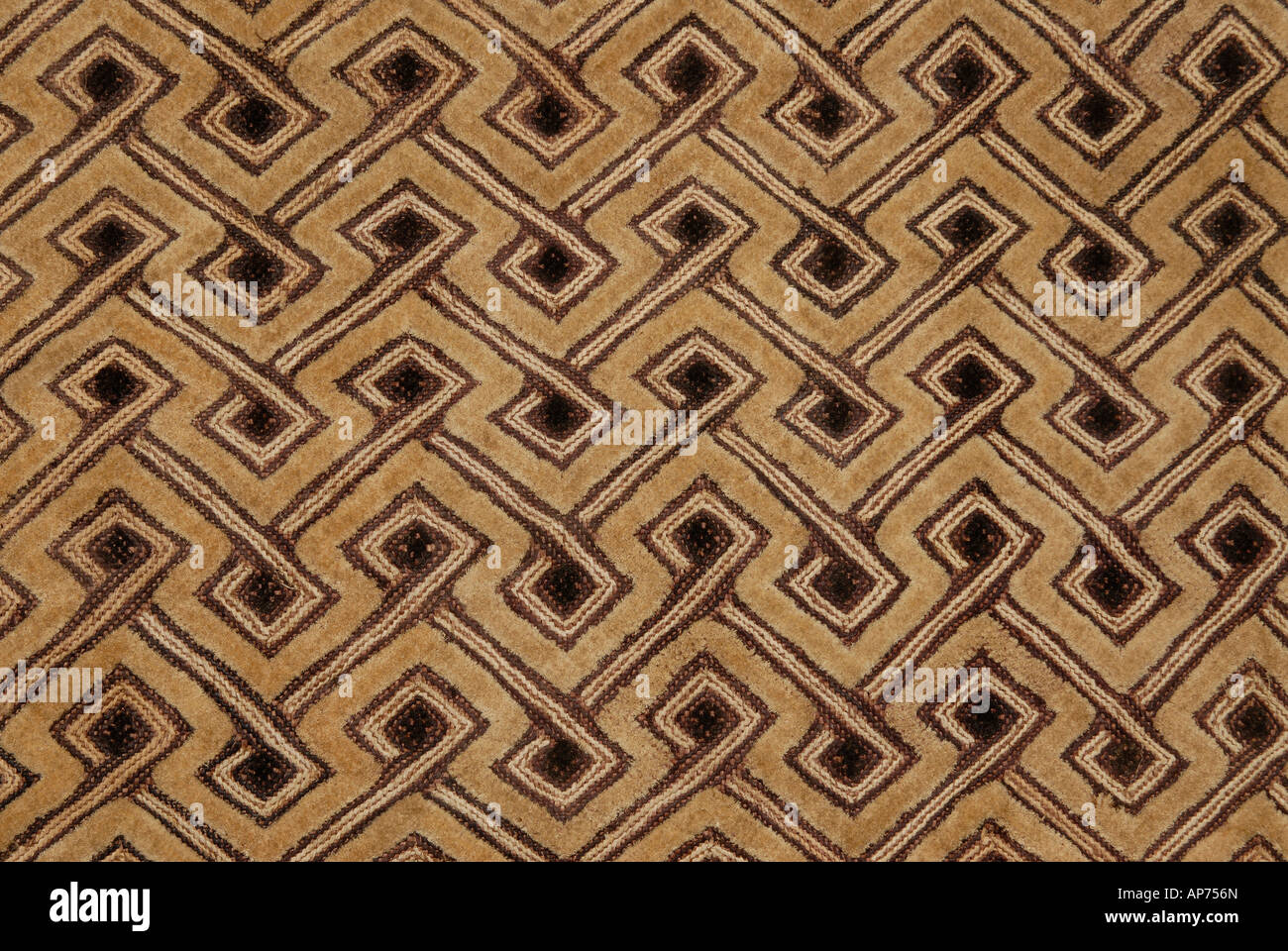 Woven raffia textile from The Democratic Republic of Congo formerly known as Zaire From the Kuba tribe Stock Photo