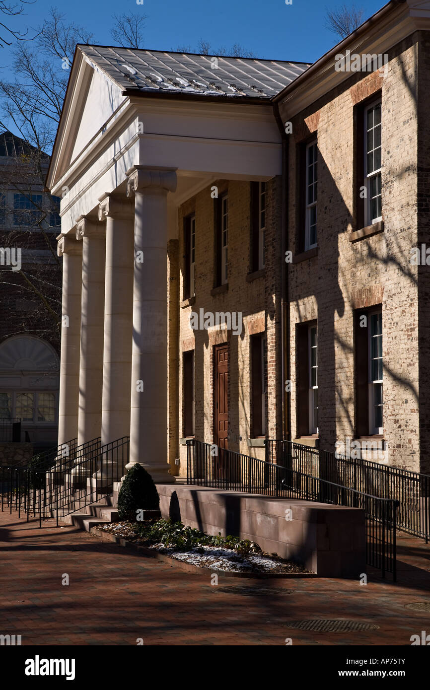 Back of Gerrard Hall of the University of North Carolina in Chapel Hill UNC Stock Photo